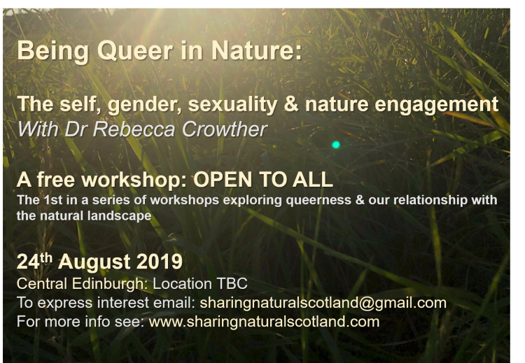 BEing Queer in Nature workshop one