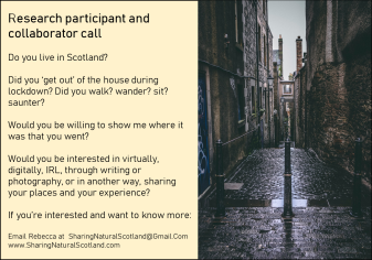 Research call 5 cobbled street edinburgh Aug 31st
